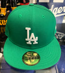 Los Angeles Dodgers New Era Green Fitted Hat