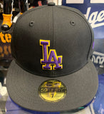 Los Angeles Dodgers New Era Black/Purple/Yellow Fitted Hat