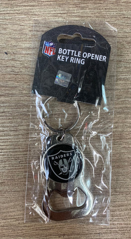 Las Vegas Raiders Bottle Opener Silver Key Ring