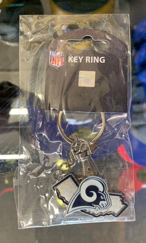 Los Angeles Rams California Map Key Ring