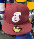 Tomateros De Culiacan Burgandy  New Era Fitted Hat