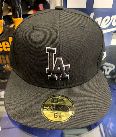 Los Angeles Dodgers New Era Black Fitted Hat