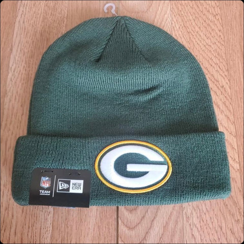 Green Bay Packers Green New Era Team Logo Beanie