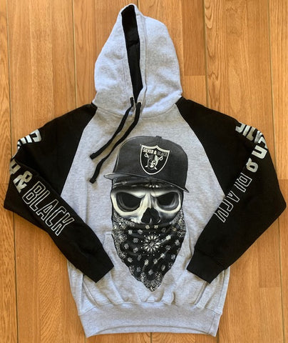 Las Vegas Raiders Men's Pullover Black/Gray Hoodie