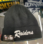 Las Vegas Raiders Black/White New Era Beanie