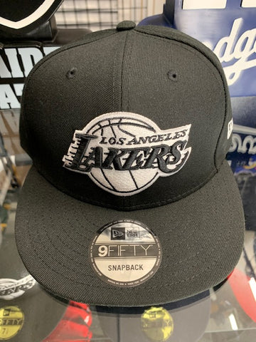 Los Angeles Lakers New Era Black Snapback