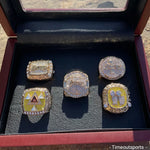 Los Angeles Lakers Kobe Bryant 5 Rings Complete Set with Showcase