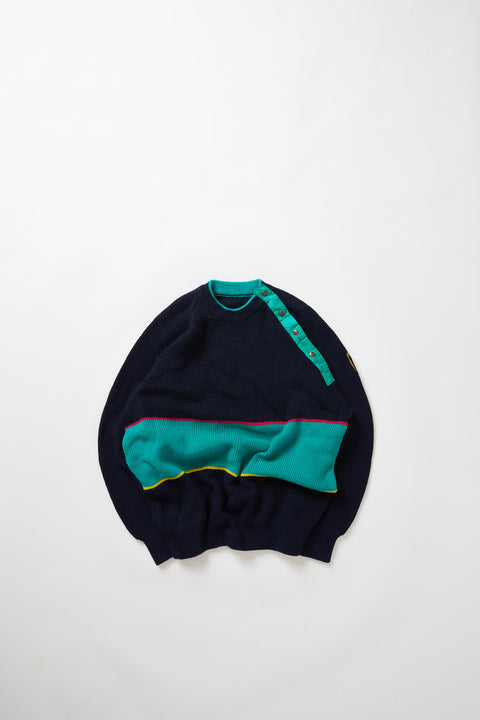 Colour Blocked fisherman's sweater (M)