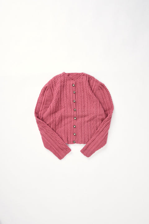 Cable knit cardigan  (M)
