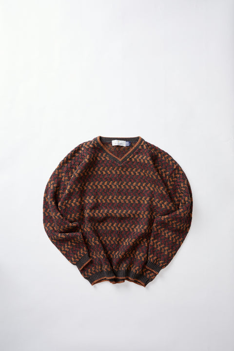 Jaquard knitted sweater (L)