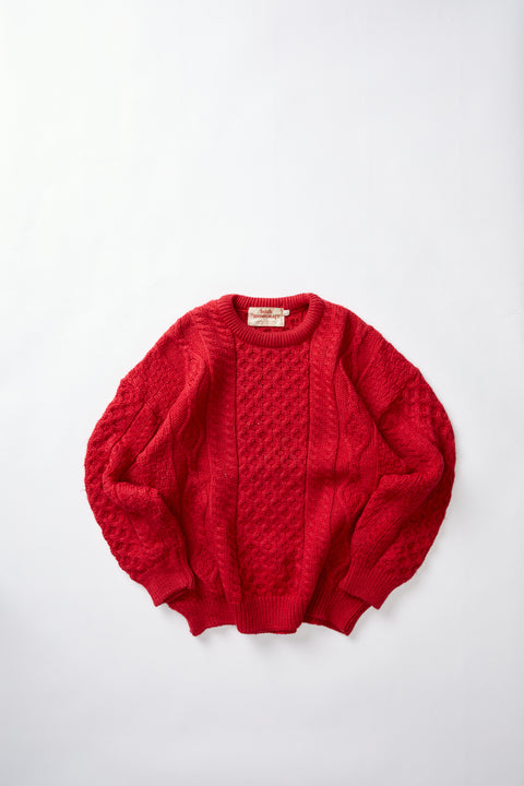 Irish Aran Knit Sweater (L)