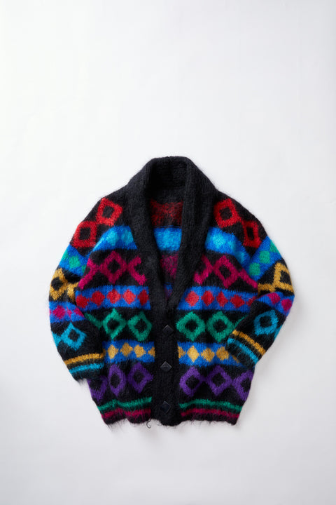 80's Home Knit Mohair Cardigan (XL)