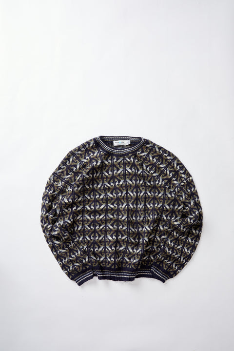 Patterned Knit Sweater (XL)