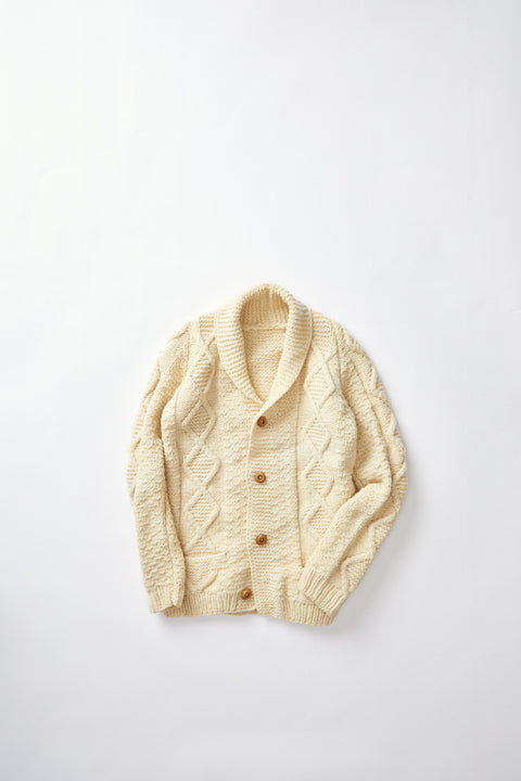 Multipatterned Knit cardigan (S)