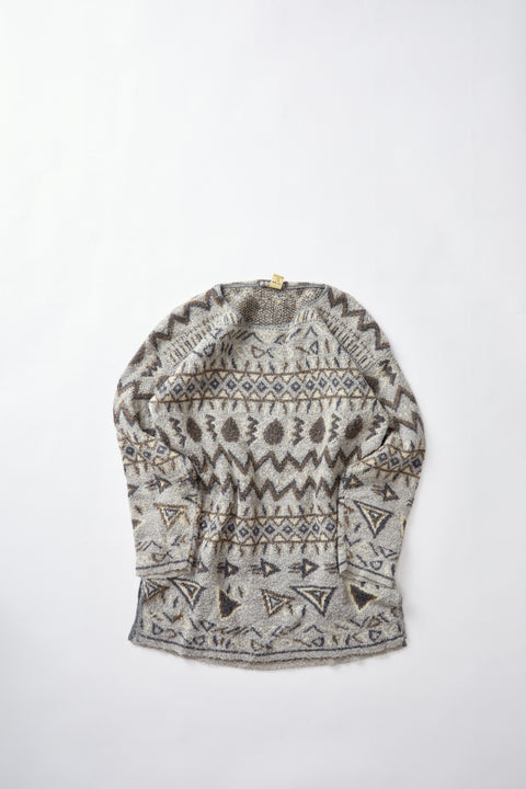 80's French Patterened Sweater (L)