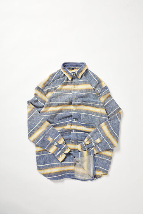 Yellow Cornwell Heavy Stripe Shirt (L)