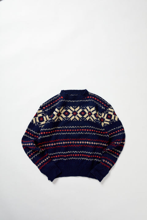 Norwegian Knitted Sweater  (M)