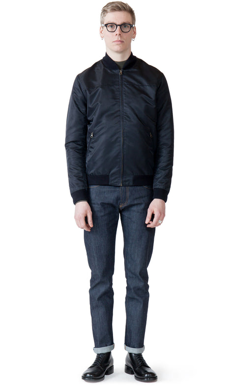 Christopher Japan Solid Navy - Jacket - Livid Jeans