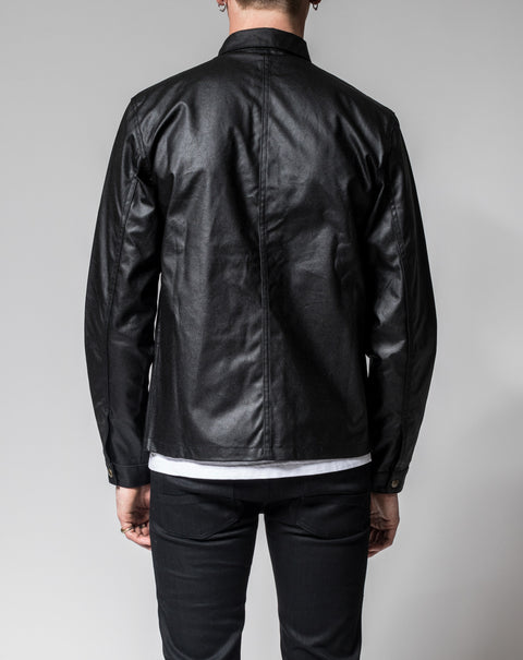 Kevin Waxed Black - Jacket - Livid Jeans