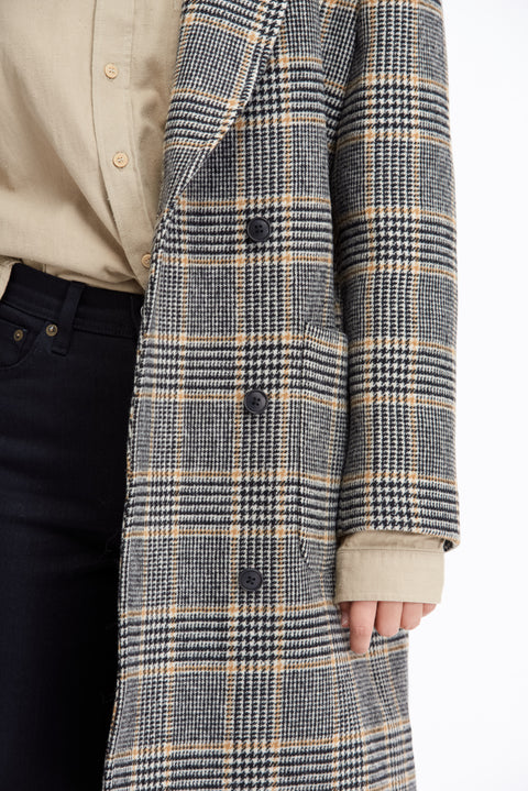 Suna Check Wool - Jacket - Livid Women