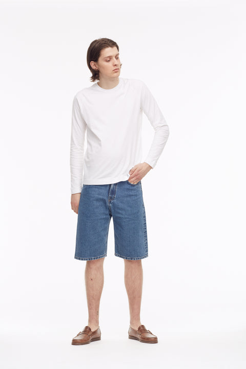 Tue Straight Shorts Japan Sky - Shorts - Livid Jeans