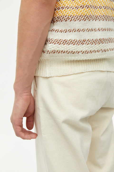 Boyd Off-White Multi Pattern Linen