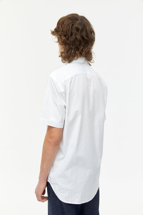 Elliott White Stripe Poplin