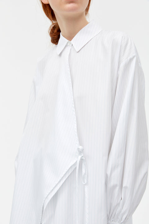 Avery White Stripe Poplin