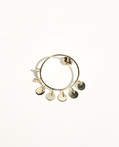 Baali Front Gold Plated Earring