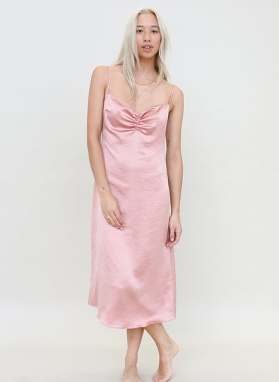 Ruched Slip Dress