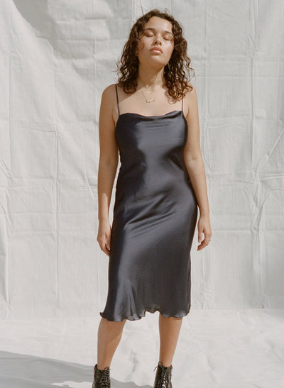 Bias Satin Slip Dress