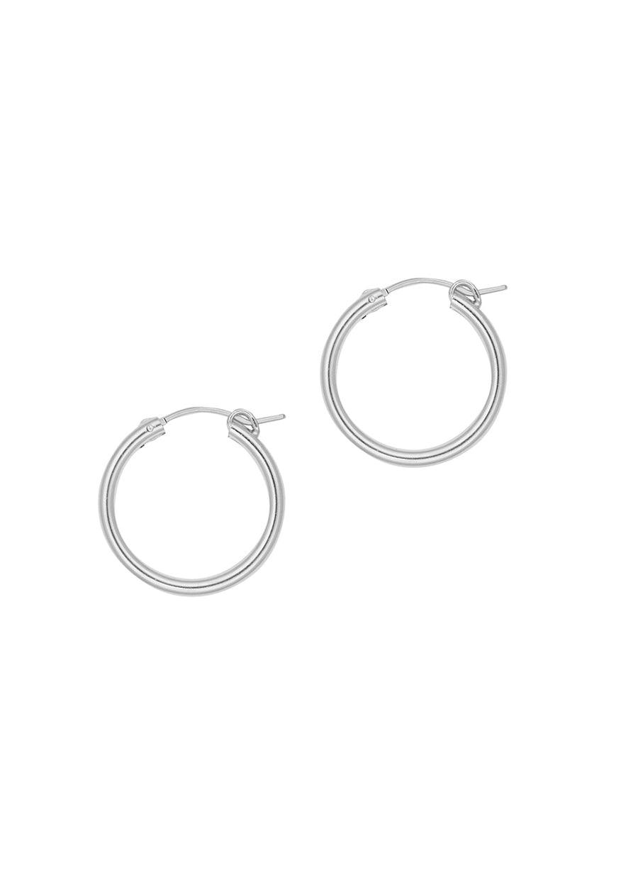 Calla Mid Hoops by Petite Grand