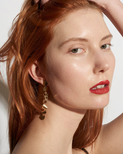 Wavee Disco Earrings - Gold