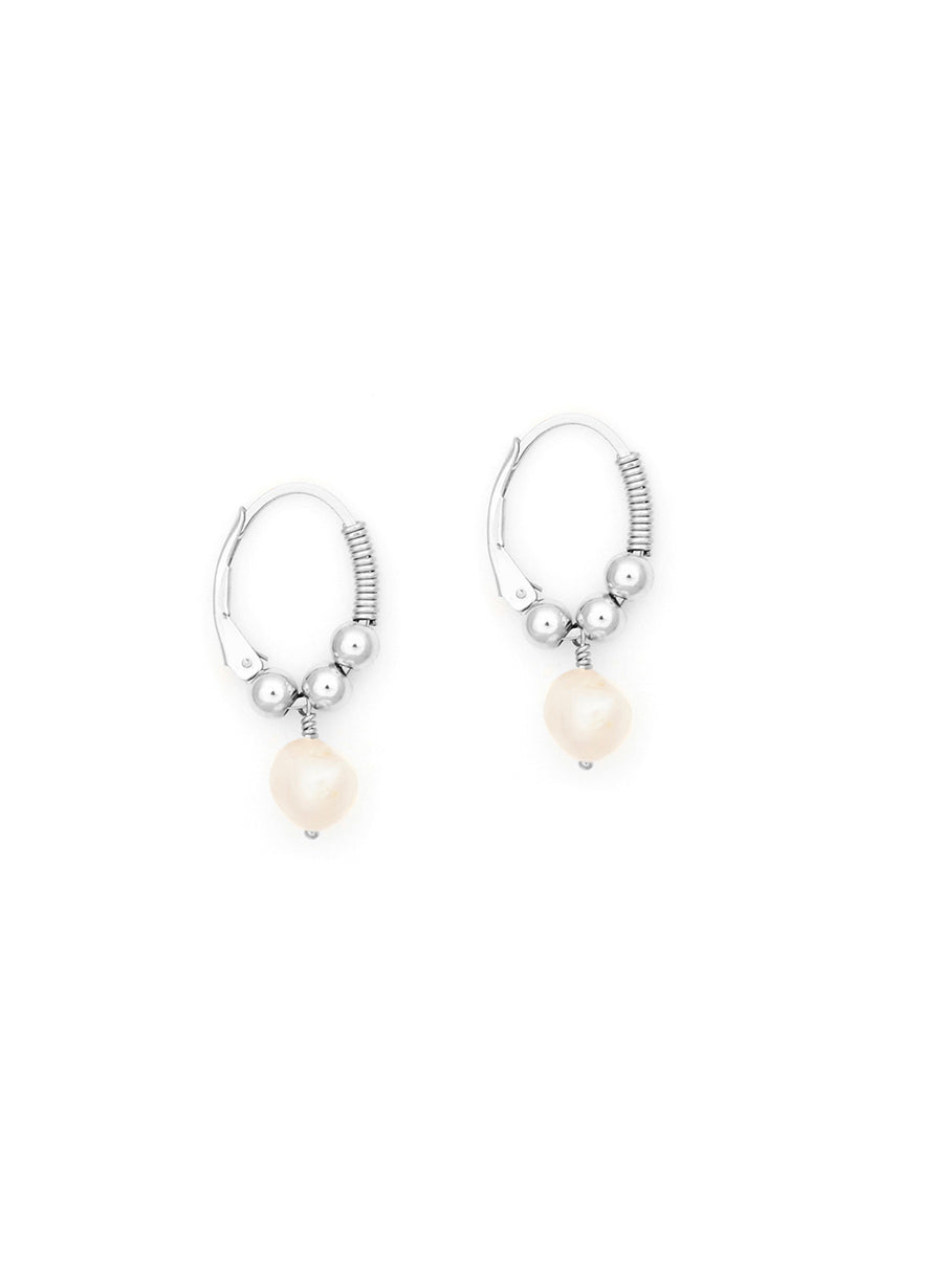 Little Pearl Hoops by Petite Grand