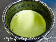 High Quality Matcha Tea after whisking
