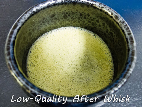 Low quality Matcha after whisking