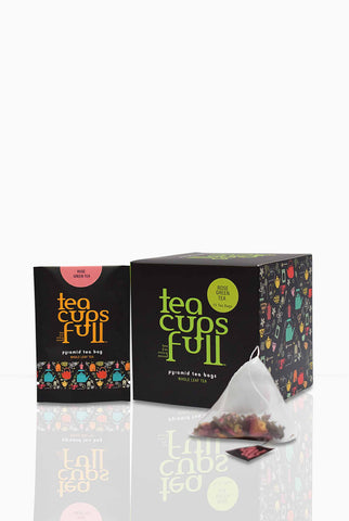Buy Rose Green Tea Bags Online, Buy Pyramid Tea bags online, Buy Gourmet Tea Bags