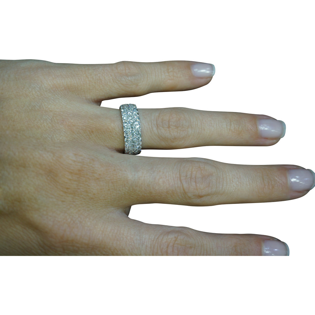 ring textured wide bands sz band dsc ctw products rings ways diamond bcec