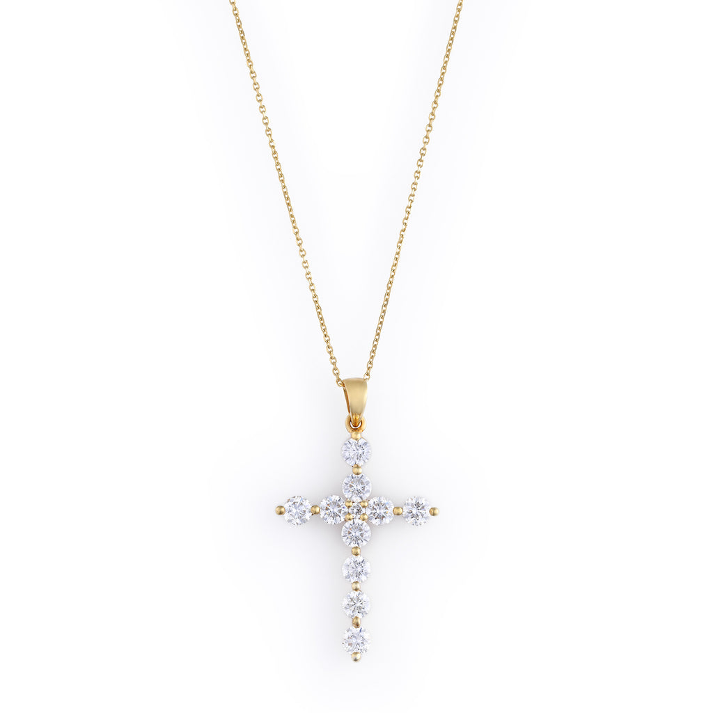 Large diamond cross pendant necklace elias allan large diamond cross pendant elias allan jewelry mozeypictures