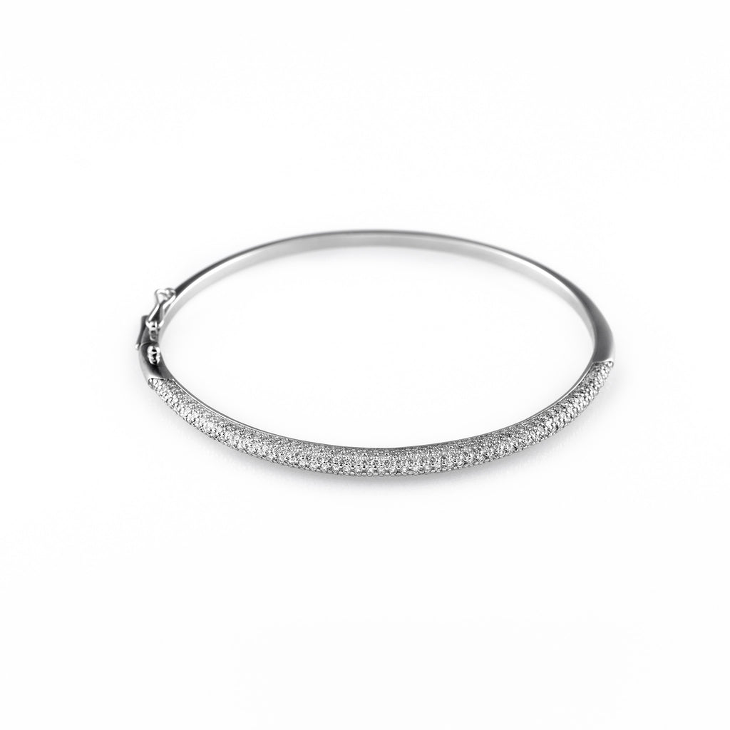 white bangle collection pave open diamond london gold bracelet bangles