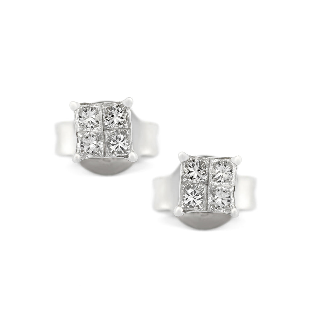 of stud center white earrings diamond halo my universe gold