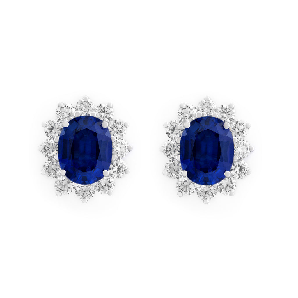 Sapphire & Diamond Stud Earrings  Elias Allan Jewelry