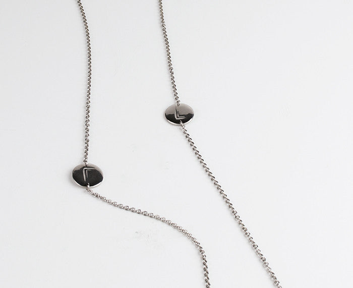 Rena Necklace - Casting, Chain, White Rhodium Gold Plating