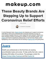 MAKEUP.COM: Beauty Brands Are Stepping Up to Support Coronavirus Relief Efforts