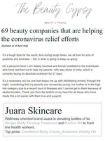 THE BEAUTY GYPSY: 69 Beauty Companies That Are Helping The Corona Virus Relief Efforts