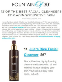 FOUNTAIN OF 30 : 12 Of The Best Facial Cleansers For Aging / Sensitive Skin