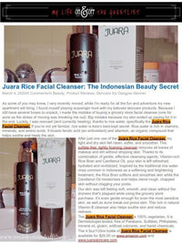 MY LIFE ON AND OFF THE GUEST LIST : Juara Rice Facial Cleanser : The Indonesian Beauty Secret