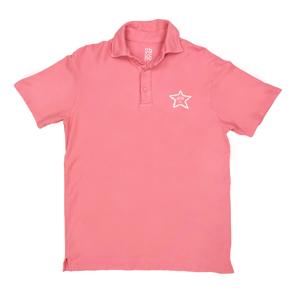 2020! Star Polo Dark Pink
