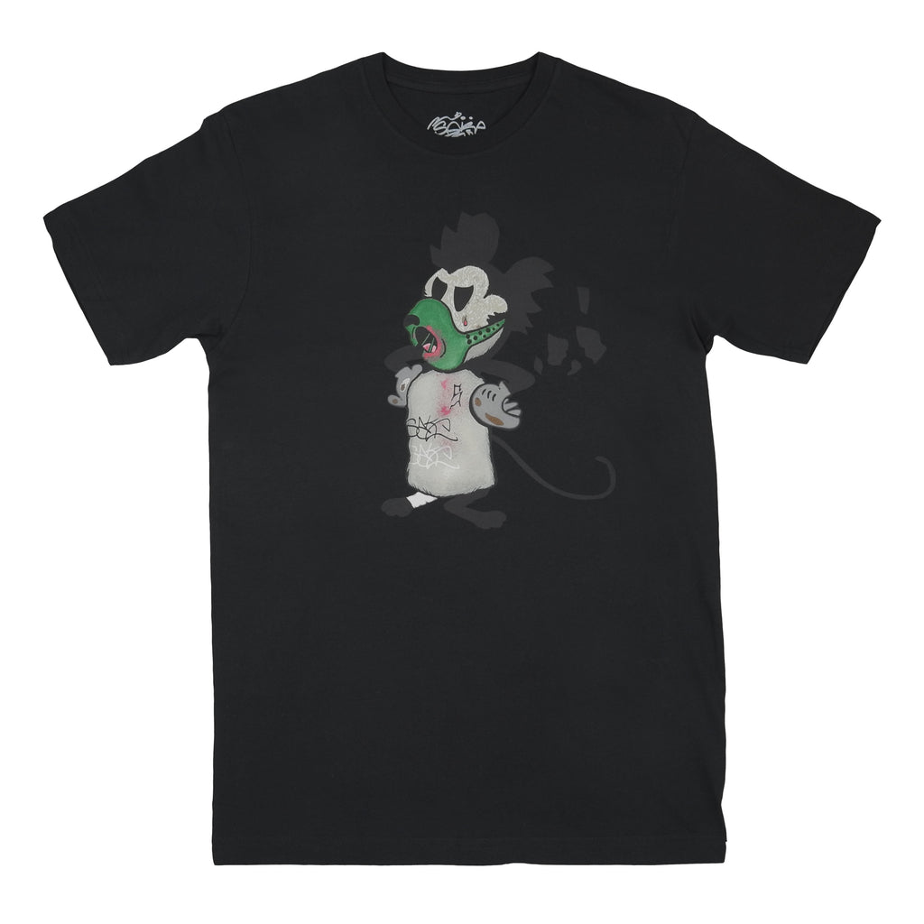 S8 Silent Mouse Tee Black