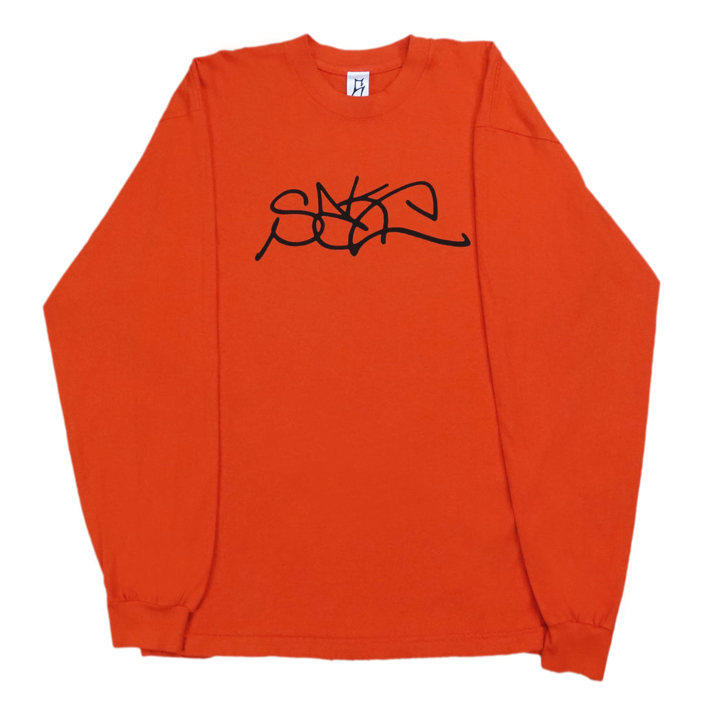 Sake Logo Fire Orange Long Sleeve Shirt